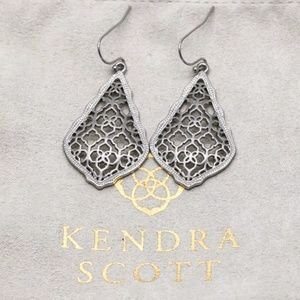 "Kendra Scott ""Addie"" Silver Filigree Drop Earrings"